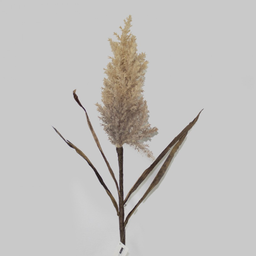 ARTIFICIAL PAMPAS SPRAY BROWN H.110CM