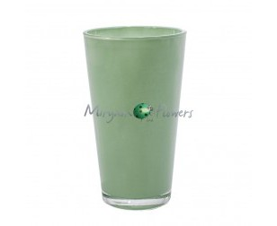 VASO IN VETRO CHICAGO TIFFANY HOT CUT H.22CM X D.13CM PZ.1