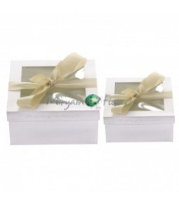 FLOWERS BOX SET A DUE H.11CM X L.22,7CM X L.22,7