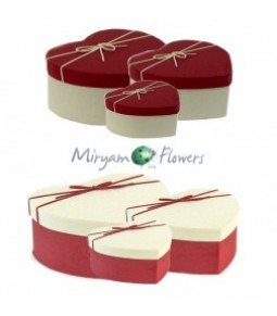 FLOWER BOX S/3 HEART
