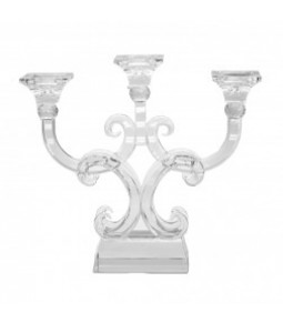 GLASS CANDLE HOLDER 3 HEADS 32X36 CM PZ. 1