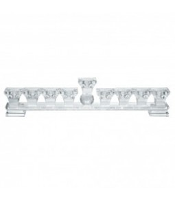 GLASS CANDLE HOLDER 9 HEADS 37X7.5 CM PZ. 1