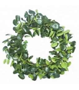 EUCALIPTUS LVS WREATH DIA58CM GREEN