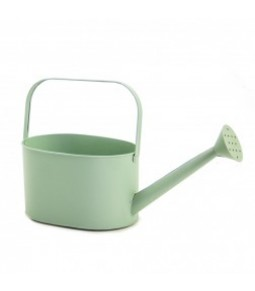 ANT. ZINC OVAL WATER. CAN W HANDLE & SMA. LO. TU. B23,5X18CM LT GREEN
