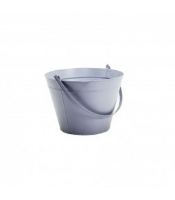 ZINC ROUND BUCKET W HANDLE B21CM H23,5CM LT BLUE