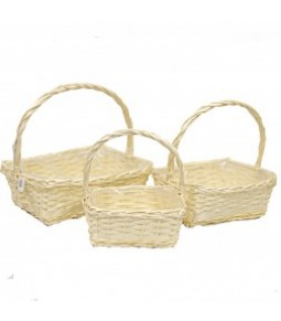 RECTANG.WILLOW BASKET S 3 BLANCHED