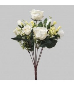 ROSE BQT W 10 FLWS WHITE