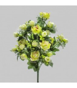 FRONTALE ROSE GYPSO LT GREEN H.44CM