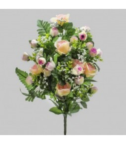 FRONTALE ROSE GYPSO LT PINK H.44CM