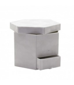 FLOWER BOX WHITE 23X20X15.5CM