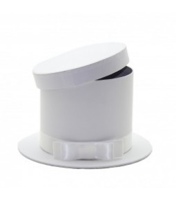 FLOWER BOX HAT SHAPE WHITE D22(D15.5)X13CM