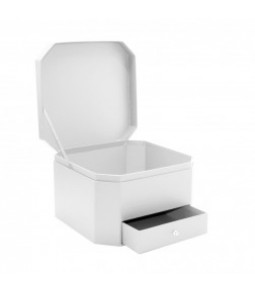 FLOWER BOX WHITE 25X25X16