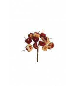 HALF APPLE PICK D. 2CM, 12 PCS IN BUNDLE, 11 CM CONFEZIONE DA 6PZ