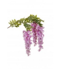 WISTERIA HANGING BRANCH W 3 GROUPS OF FLWS L. 24 CM