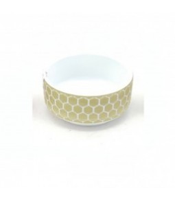 D20,5XH9CM BOWL RLIEF WHITE GREEN
