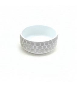 D20,5XH9CM BOWL RLIEF IN PALET WHITE GREY